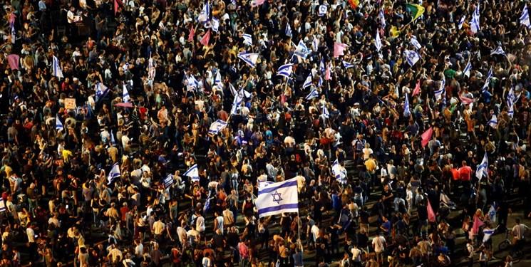 گروهی از صهیونیستها پایان نتانیاهو را جشن گرفتند+فیلم