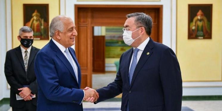 دیدار وزیر خارجه قزاقستان با «خلیل زاد»؛ محور رایزنی توسعه افغانستان