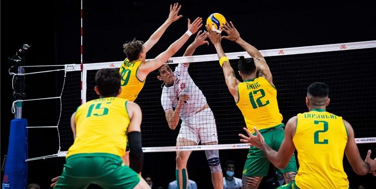 لیگ ملتهای والیبال| شکست ایران مقابل استرالیا/ هدیه بزرگ شاگردان آلکنو به قعرنشین