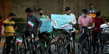 گزارش تصویری| کارناوال دوچرخهسواری نوجوانان مشهدی برای شرکت در انتخابات