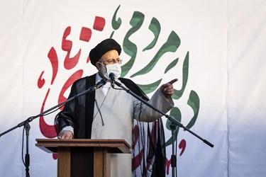 دیدار آیتالله سید ابراهیم رئیسی به محل دیدار با فرهنگیان