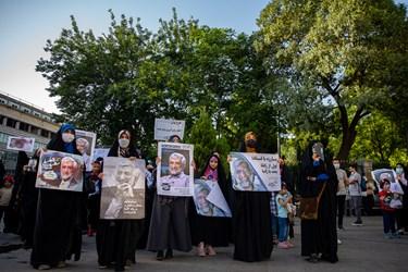 حضور حامیان سعید جلیلی، کاندیدای سیزدهمین انتخابات ریاست جمهوری-میدان راه آهن
