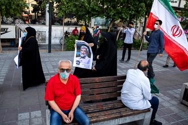 تجمع حامیان سعید جلیلی، کاندیدای سیزدهمین انتخابات ریاست جمهوری در میدان منیریه