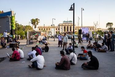 پس از پایان مراسم گردهمایی حامیان جلیلی در میدان راه آهن، سخنرانی مقام معظم رهبری از بصورت صوتی پخش گردید.