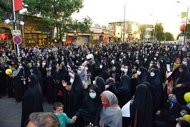 جشن خیابانی دهه کرامت  در پیاده راه سبزه میدان زنجان