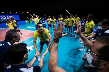 گزارش تصویری از شکست والیبال ایران مقابل برزیل