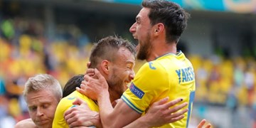 گزارش تصویری از دیدار تیم های اوکراین و مقدونیه