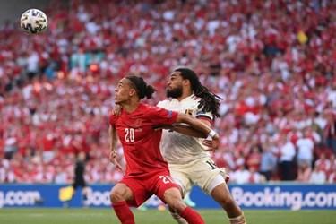 گزارش تصویری از دیدار تیم های دانمارک و بلژیک