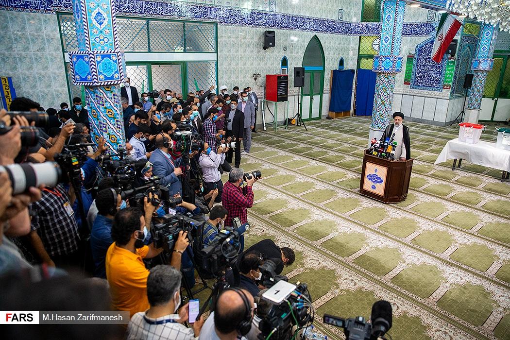 آیت الله رئیسی در  مسجدجامع ارشاد شهر ری