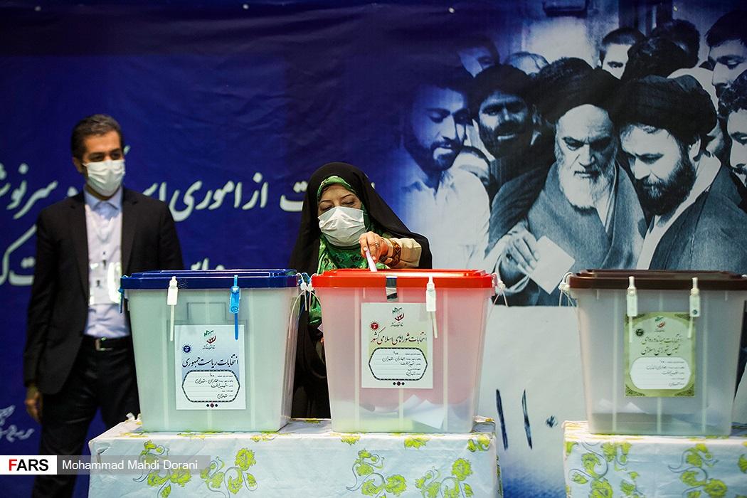 اخذ رای فائزه هاشمی رفسنجانی در حسینیه جماران