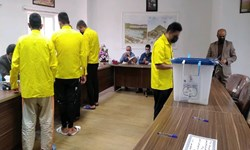 حضور زندانیان گیلانی پای صندوقهای رأی + عکس