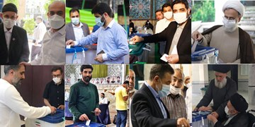 مداحان و سخنرانان رأی خود را به صندوق انداختند+ عکس