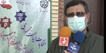 سردار تنگسیری در بندرعباس رأی خود را به صندوق انداخت+عکس