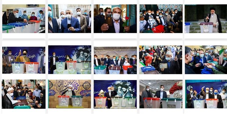 حضور چهرههای سرشناس در پای صندوقهای رأی+تصاویر