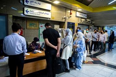 انتخابات 1400 اخذ رای در ایستگاه های مترو