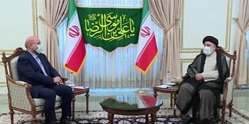 دیدار قالیباف با آیتالله رئیسی/ رئیسجمهور منتخب: همه تلاش خود را برای باز کردن گرههای کشور به کار میگیریم