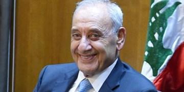 پیام تبریک رئیس پارلمان لبنان به رهبر معظم انقلاب و آیتالله رئیسی