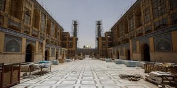 تکمیل صحن حضرت زهرا(س) در نجف به مرحله نهایی رسید+جدیدترین تصاویر