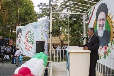سخنرانی مجید آقازاده شهردار ارومیه در جشن پیروزی هواداران آیتالله رئیسی در ارومیه