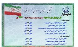 اعلام اسامی منتخبان شورای اسلامی شهر دستجرد
