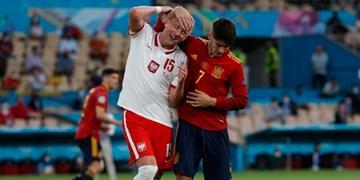 گزارش تصویری از دیدار تیم های  اسپانیا و لهستان