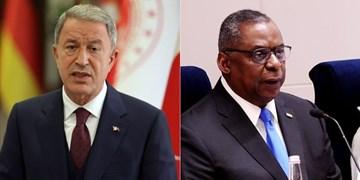 وزرای دفاع آمریکا و ترکیه درباره موضوعات امنیتی و منطقه رایزنی کردند