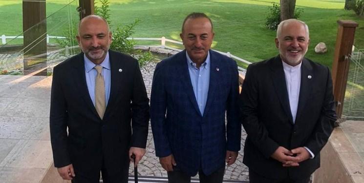 نشست سه جانبه وزرای خارجه ایران، ترکیه و افغانستان در آنتالیا