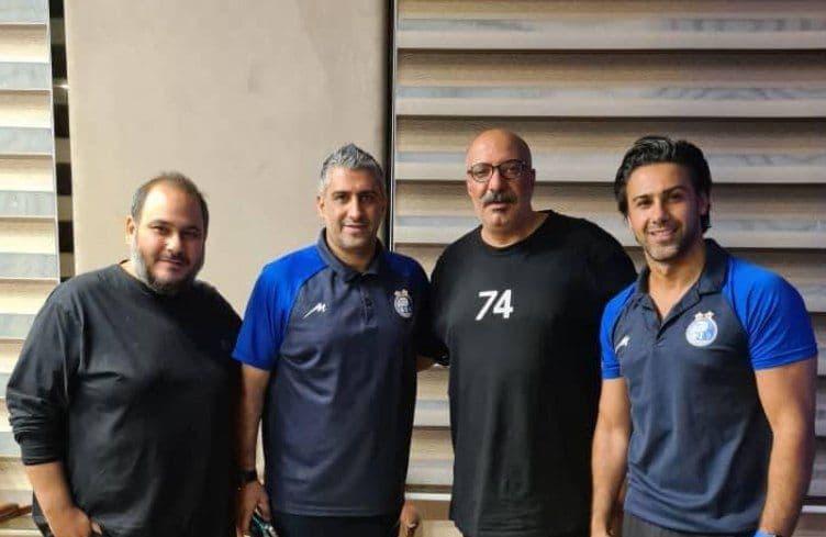 حضور دو بازیگر سینما در هتل محل اقامت استقلالیها/عکس