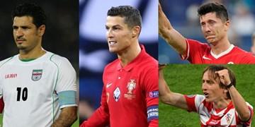 ترین های هفته پایانی یورو 2020| رونالدو در کنار دایی چهره هفته شد /مودریچ بازیکن برتر و لواندوفسکی ناکام بزرگ