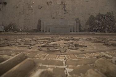 بخشی از نقوش دیوارهای عمارت نواب یزد