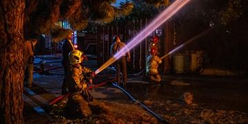 آتشسوزی گسترده در محدوده جاده مخصوص کرج
