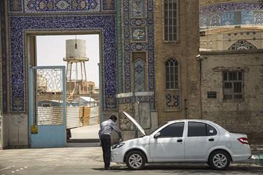 گرمای بی سابقه در یزد و تعرض به خط لوله آب
