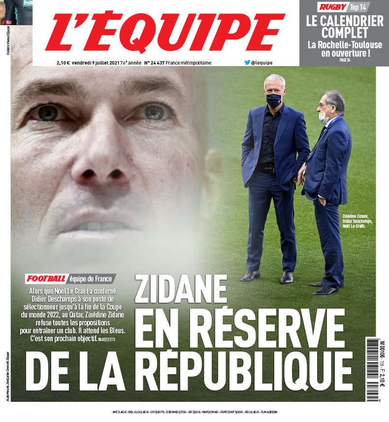 احتمال حضور زیدان در تیم ملی فرانسه پس از جام جهانی/عکس