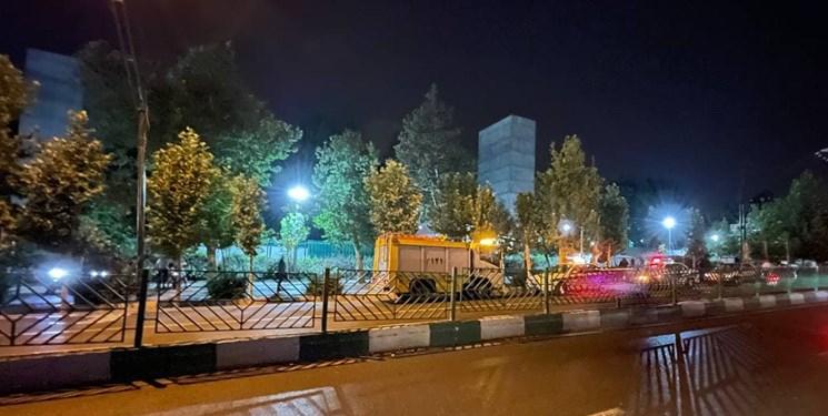 صدای مهیب در غرب تهران/ انفجار یک شیءناشناس در بوستان ملت+فیلم