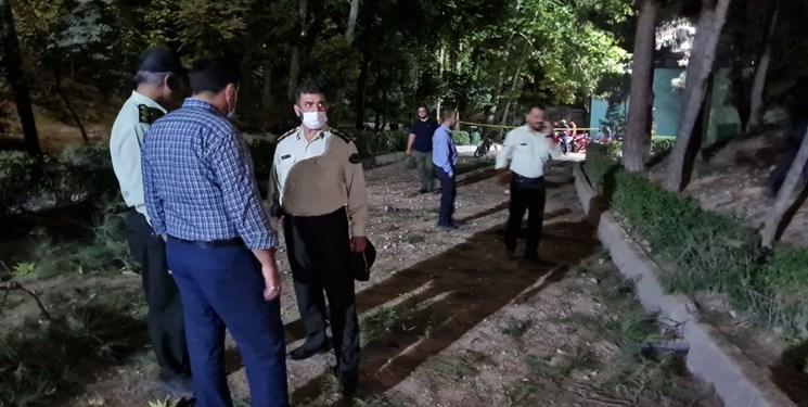 تصاویر محل انفجار در داخل پارک ملت