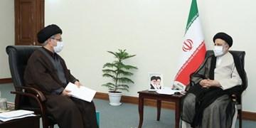 دیدار دبیر شورای عالی انقلاب فرهنگی و رئیس دفتر رئیس جمهور با آیت الله رئیسی