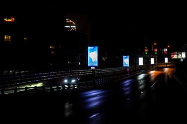 روشنایی بنرهای تبلیغاتی در سطح شهر