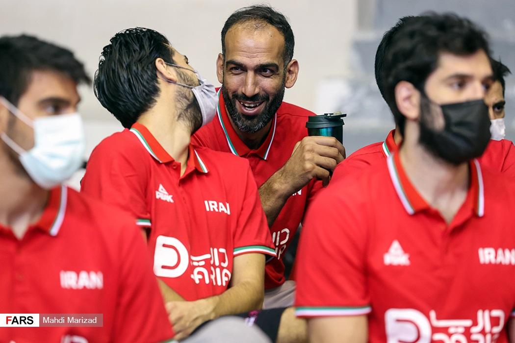 حامد حدادی در مراسم بدرقه تیم ملی بسکتبال المپیک ۲۰۲۰ ژاپن