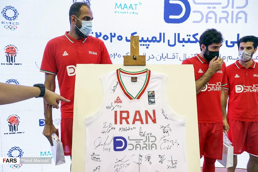 رونمایی از پیراهن تیم ملی بسکتبال در المپیک ۲۰۲۰ ژاپن