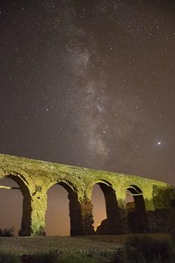 کهکشهان راه شیری در پل قدیمی خرانق یزد