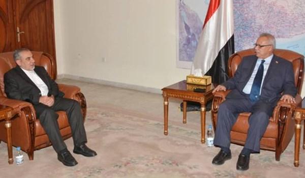 السفير الايراني يبحث مع رئيس الوزراء اليمني علاقات التعاون بين البلدين