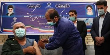 فیلم  تزریق واکسن ایرانی «کوو ایران برکت» در شهرکرد