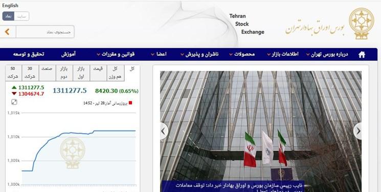 رشد 8420 واحدی شاخص بورس تهران/ ارزش معاملات دو بازار از 30 هزار میلیارد تومان گذشت