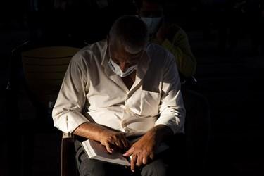 مراسم دعای عرفه در گلزار شهدای خلدبرین یزد