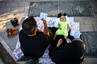 قرائت دعای عرفه با حضور خانواده ها در بهشت زهرا (س)