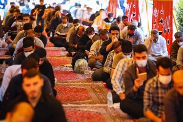 رعایت دستورالعملهای بهداشتی در مراسم دعای عرفه بهشت زهرا (س)