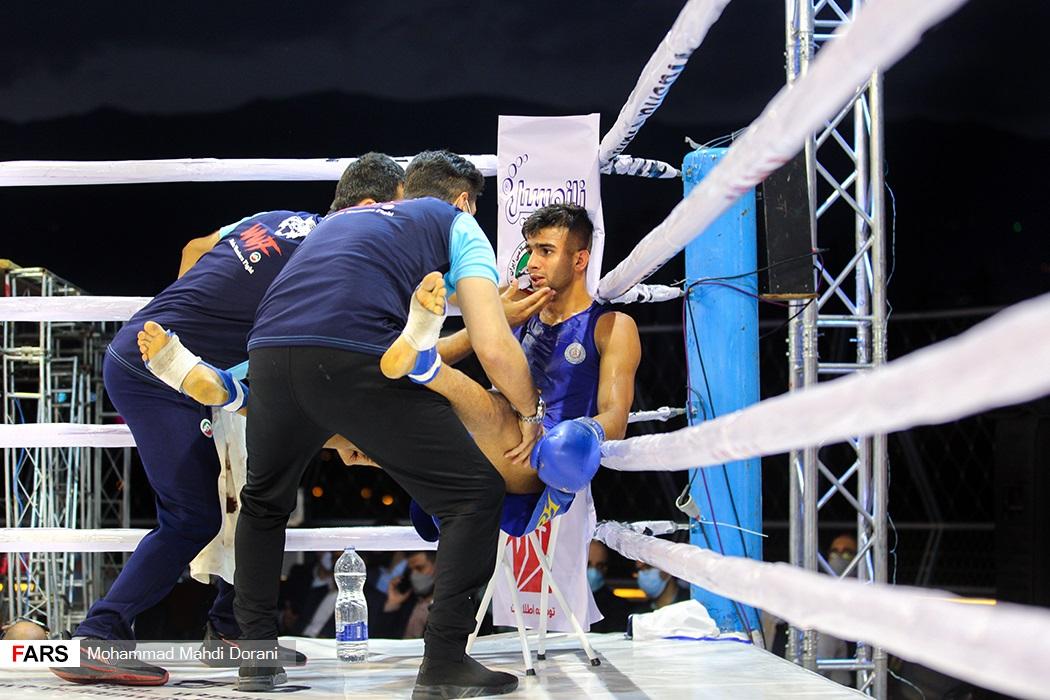 فینال مسابقات مبارزه جنگجویان ووشو (wwf)- وزن ۶۰- کیلوگرم بین مهدی اکبری و عیسی آرسیون