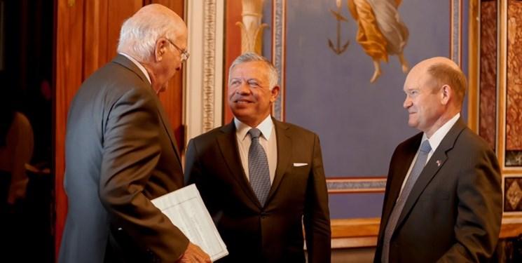 رایزنی شاه اردن با سناتورهای آمریکایی در خصوص آتشبس غزه