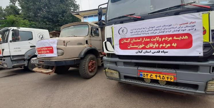 سبزپوشانی که سقایی را معنا کردند/ ارسال ۱۴۳ کانتینر آب به استان خوزستان