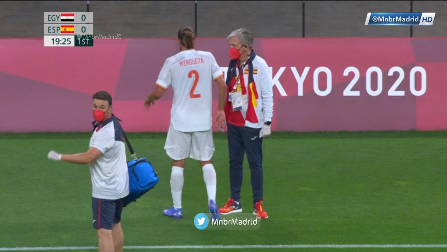 المپیک توکیو بازیکن بارسلونا نیامده مصدوم شد+عکس